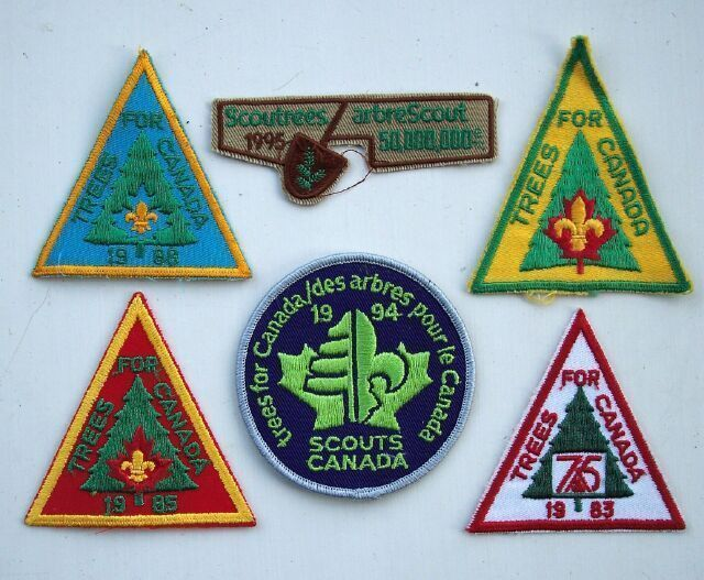 Boy Scouts Trees Scoutrees for Canada Patch Lot (6) Nice collection including the 1995 patch. $29.00 OBO