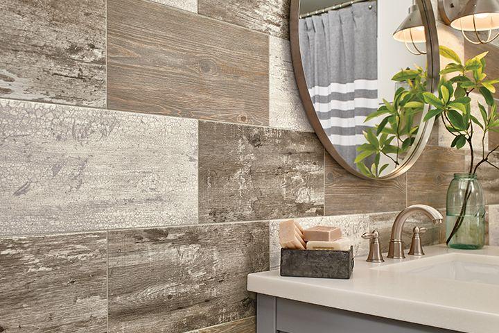 Engineered Stone Flooring On A Bathroom Wall D7195 Farmhouse Bathroom Decor Bathroom Wall Tile Vinyl Tile