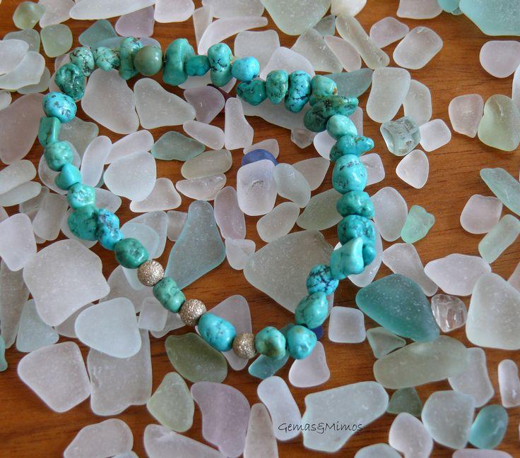 Turquesa #jewelry #handmade #gemstones #joyeria #hechoamano #artesania #piedras