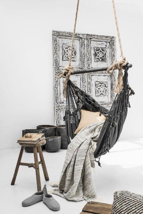 ic mekanda hamak kullanimi boho dekorasyon fikirleri oturma odasi yatak odasi balkonda hamak (7) – Dekorasyon Cini