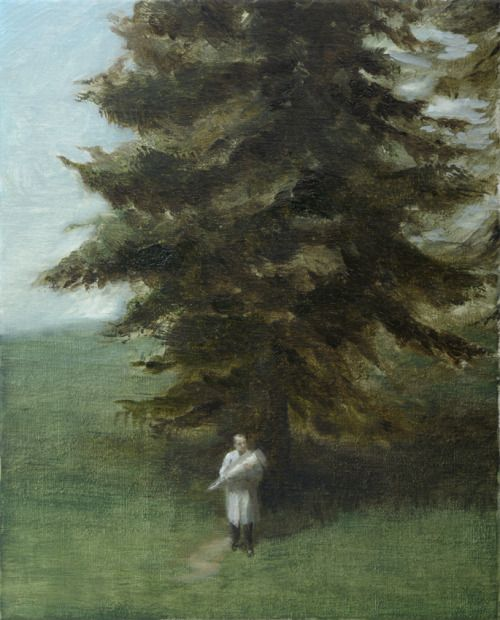 Peter Martensen (Danish, b. 1953), The Measurement, 2015. Oil on canvas, 41 x 33 cm.