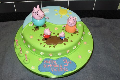 Peppa Pig Cake Muddy Puddles