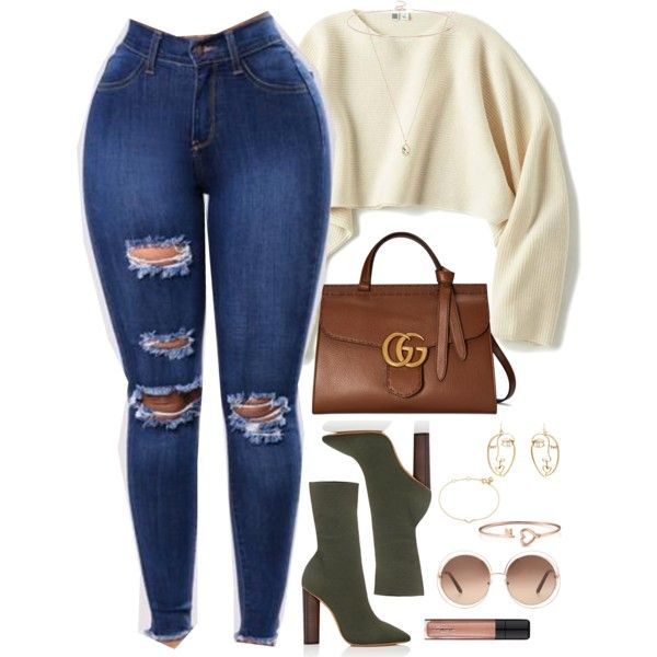 A fashion look from January 2018 featuring Uniqlo sweaters, Gucci handbags and ASOS necklaces. Browse and shop related looks.