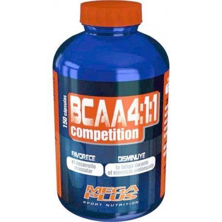 BCAA 4:1:1 COMPETITION CÁPSULAS 150 Cápsulas de 728 mg 21,15 €  Los aminoácidos ramificados (BCAA) pertenecen a la serie de los ocho aminoácidos esenciales. Los BCAA ejercen efectos beneficiosos en el deportista que quiera desarrollar su masa muscular ya que: > son capaces de incrementar la síntesis de proteína muscular. > pueden así mismo reducir la acumulación de amoníaco en el cuerpo durante especiales situaciones de carga, y por ello neutralizar un cansancio prematuro. Los BCAA'S…