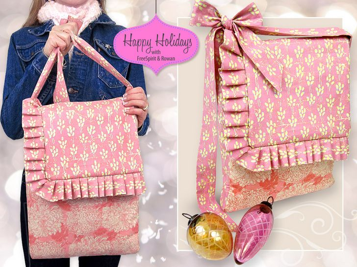 Happy Holidays with FreeSpirit & Rowan: Country Fresh Shopping Carryall | Sew4Home for Claire.