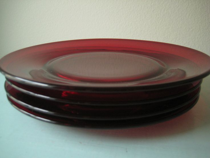 ruby red depression glass | Beautiful Ruby Red Plates Set & 32 best Ruby Red Depression Glass images on Pinterest | Ruby red ...