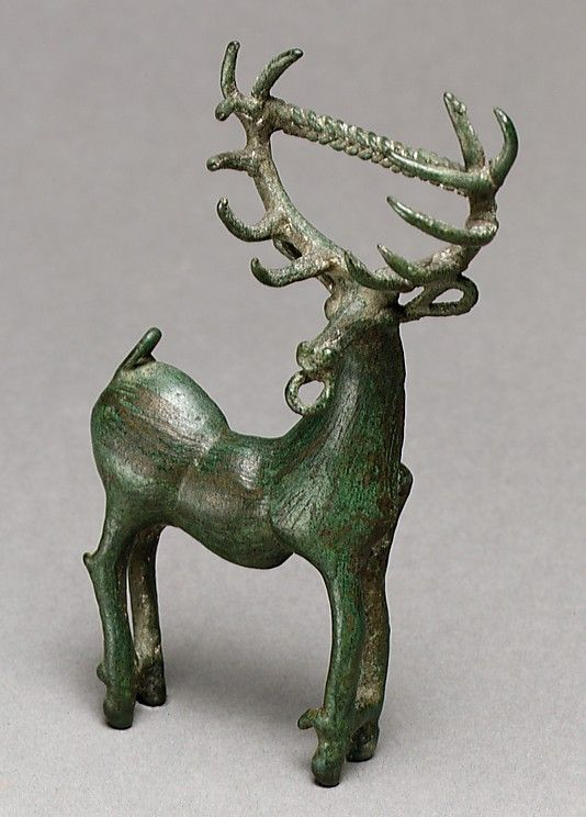 Picture-Gallery---Anatolia--- Bronze brooch in the form of a stag from Transcaucasia Dated early to mid 1st millennium BC Metropolitan Museum Hitite culture Anatolia