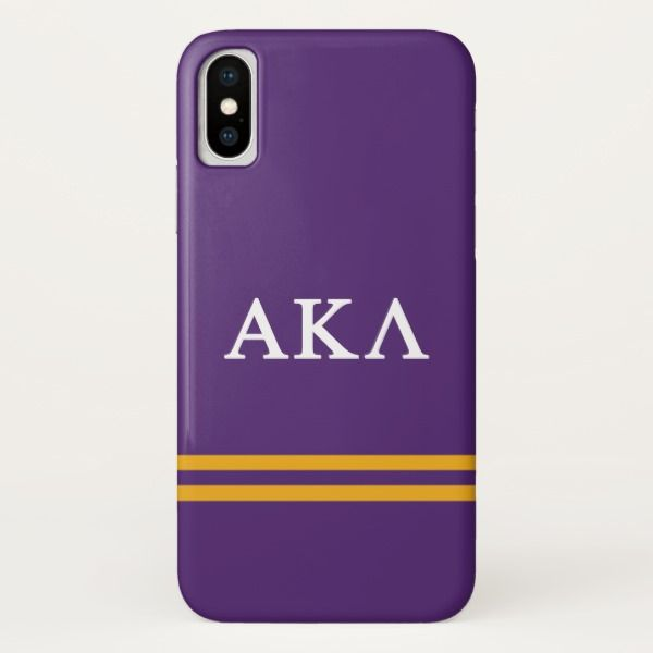 Alpha Kappa Lambda | Sport Stripe iPhone X Case Custom Brandable Electronics Gifts for your buniness #electronics #logo #brand