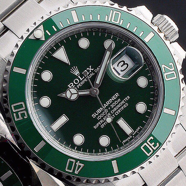 You won't like me when I'm angry  #Closeup of the #Rolex #Submariner #Hulk  In stock now!  Enquire on WhatsApp 44 7921 338836  Finance Available