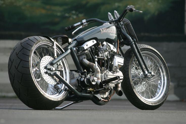 """Harper"" by Krugger Motorcycles | Belgium | based on Harley-Davidson Shovelhead engine"