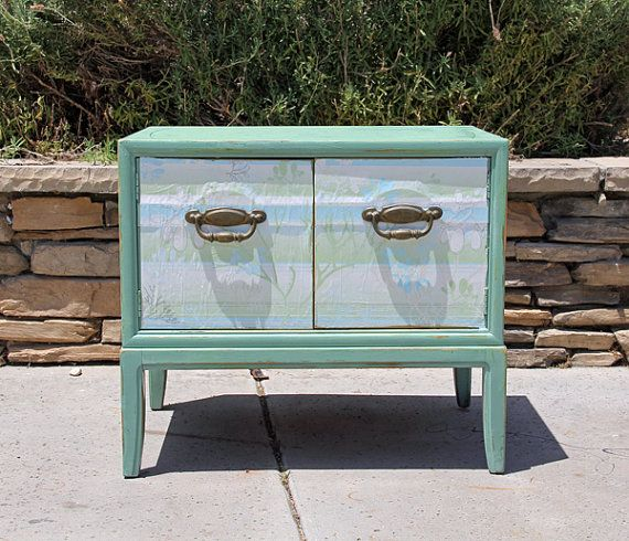Vintage TV Stand Painted and Distressed By  Foo by FooFooLaLaChild, $295.00