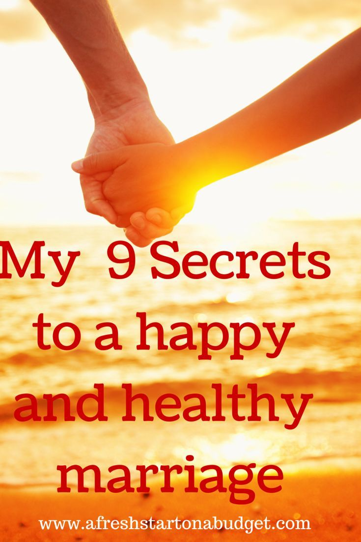 All relationships are unique. I do think there are secrets to a happy and healthy marriage and by doing these 9 tips I think most marriages will improve.