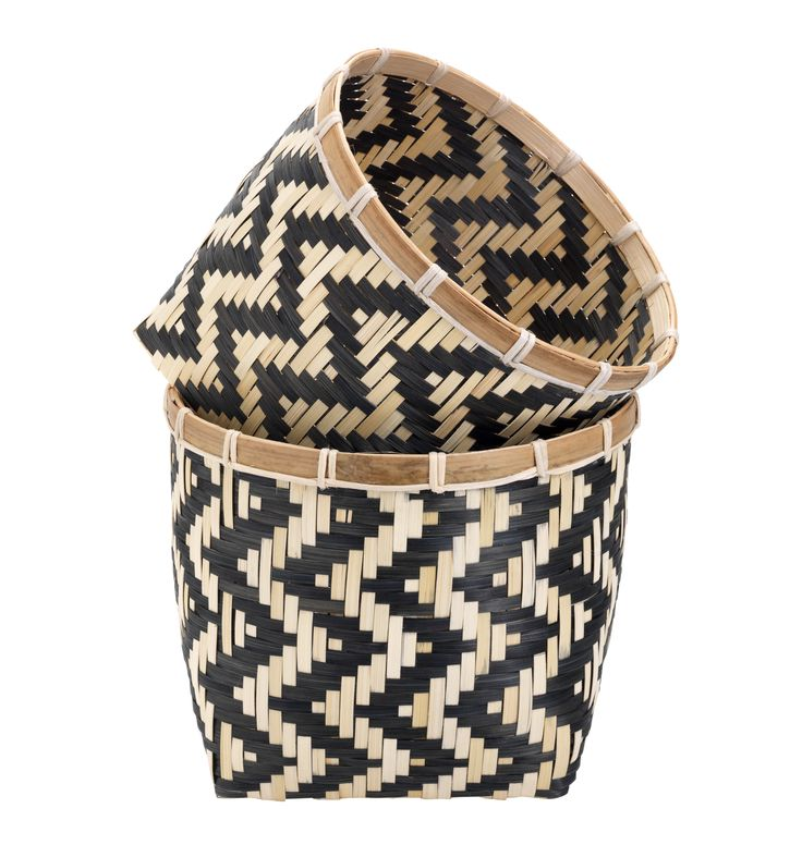 A set of two woven baskets with style. The graphic chevron pattern means these storage solutions hold their own on the design front, too. Priced at £10.