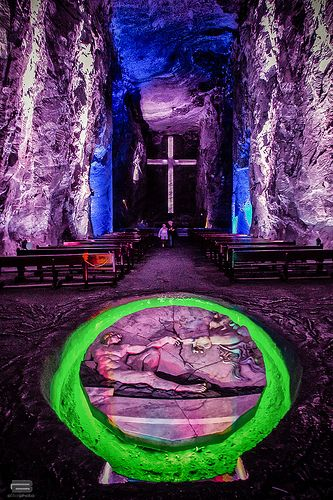 Bogota in Colombia. Salt Cathedral of Zipaquira , Located in Zipa an small town an hour away from Bogota.Salt Cathedral Series (First Colombian wonder)