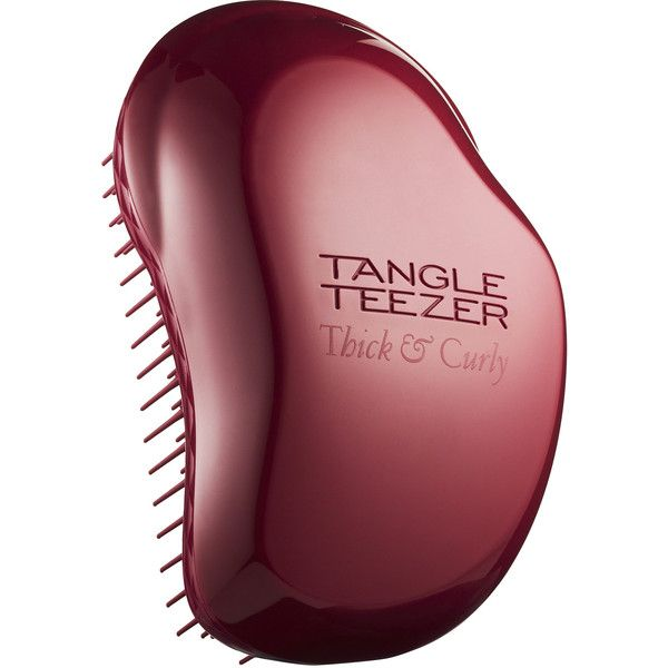 Tangle Teezer Thick & Curly Detangling Hairbrush (£10) ❤ liked on Polyvore featuring beauty products, haircare, hair styling tools, brushes & combs, tangle teezer hairbrush, curl brush, detangle hair brush, detangler brush and hair brush