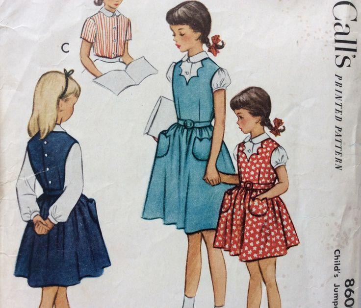 Di McCall 8600 vintage 1950 ponticello della ragazza e cartamodello camicia taglia 4 di RuralRetroTreasures su Etsy https://www.etsy.com/it/listing/220108453/di-mccall-8600-vintage-1950-ponticello
