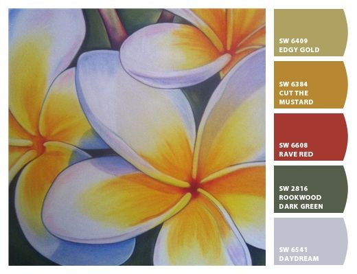 love this palette inspired by my frangipani painting
