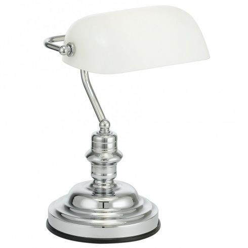 Eglo Lighting Bankers Lamp in Polished Chrome Finish with Pull Cord Switch - Image 1 of 1