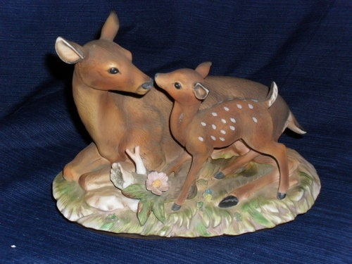 Beautiful homco masterpiece home interior porcelain doe - Home interior deer pictures for sale ...