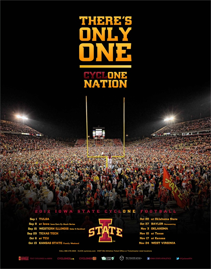 The official 2012 Iowa State Football poster