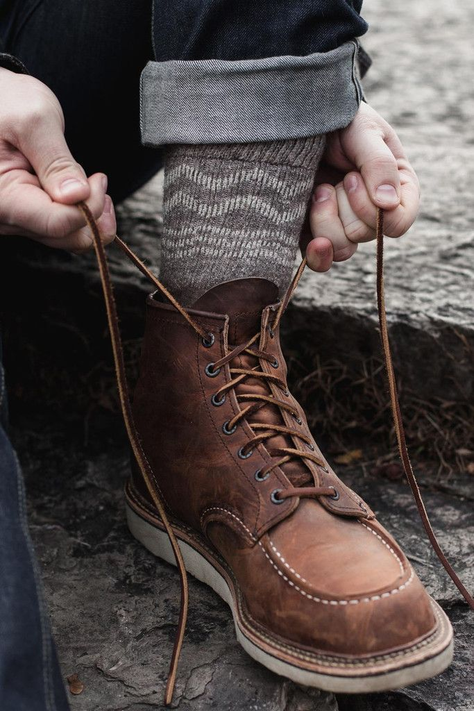 6 inch, Copper Rough and Tough leather with Traction Tread sole.