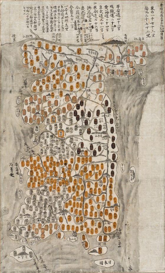 "korean-art: ""Map of Korea, 1784 From the LA County Museum of Art. """