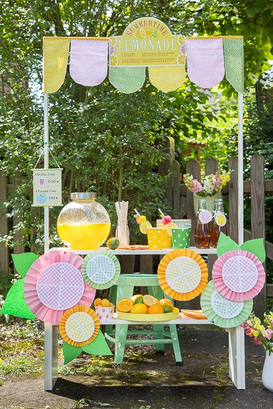 pfefferminzgruen: Sommerspaß für Kinder - Limonadenstand*