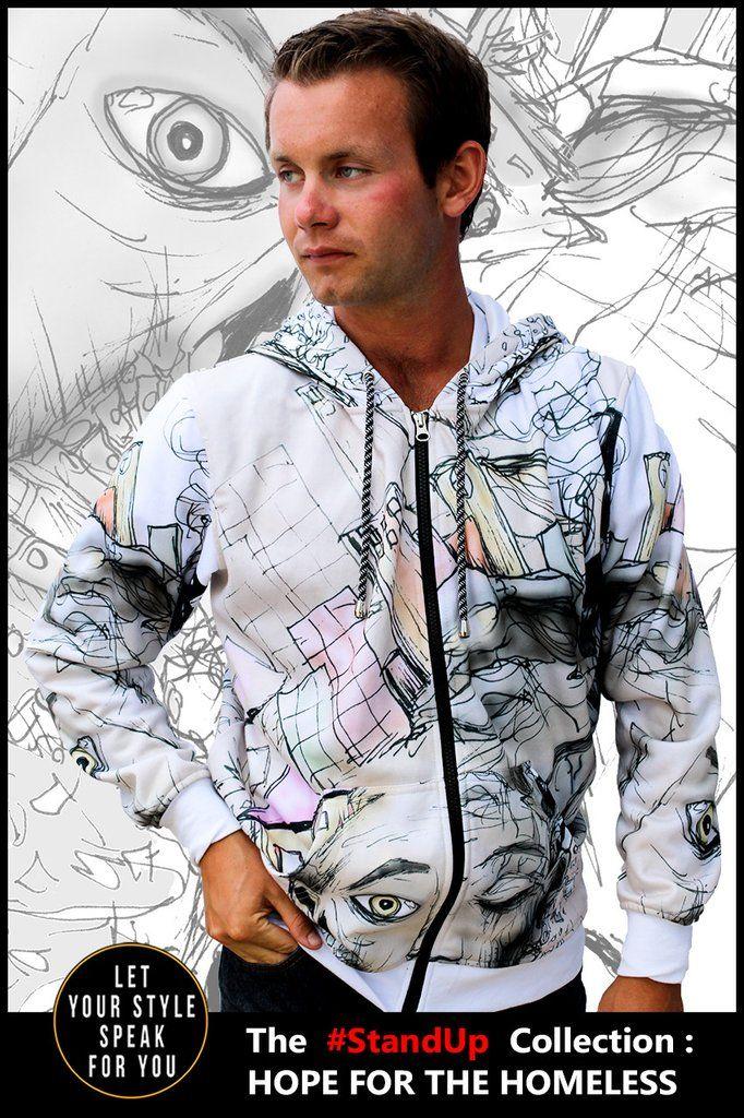 The Face of Homelessness - Men's Zipper Hoodie