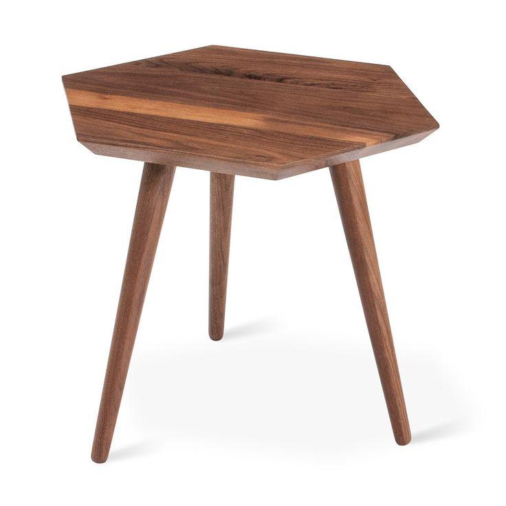 Gus*Modern Metric End Table (hexagonal tablei in walnut or ash)