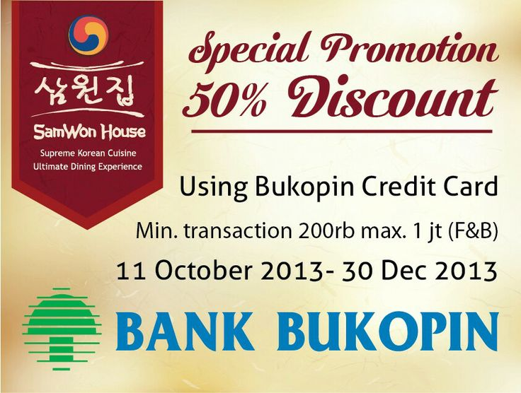 SamWon House Special Promotion 50% OFF Bank Bukopin Credit Card