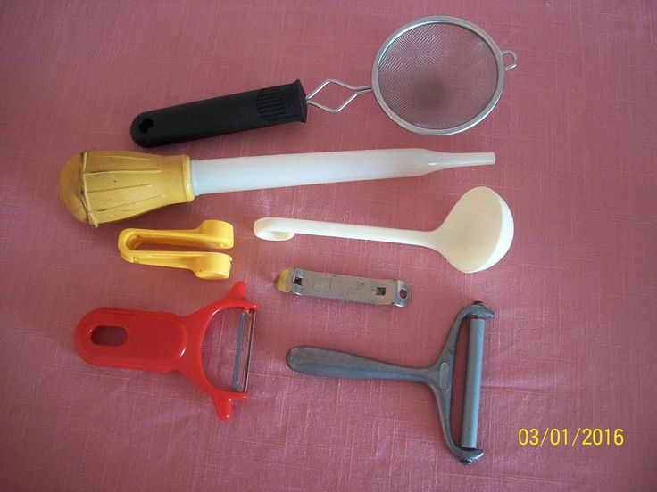 Lot 7 Kitchen Cook Tools Gadgets Peelers Baster Can Opener Strainer Modern &…