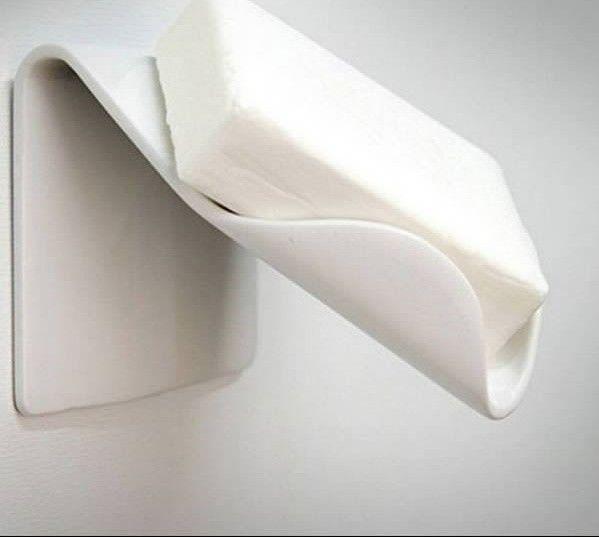 4. Мыльница, с которой стекает мыльная пена для дома, изобретения, прикольные вещи