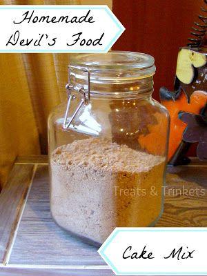 Treats & Trinkets: Homemade Devil's Food Cake Mix