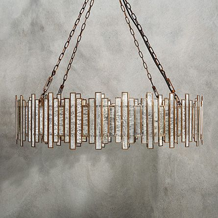 Laila Large Chandelier in Antique Copper | Arhaus Furniture