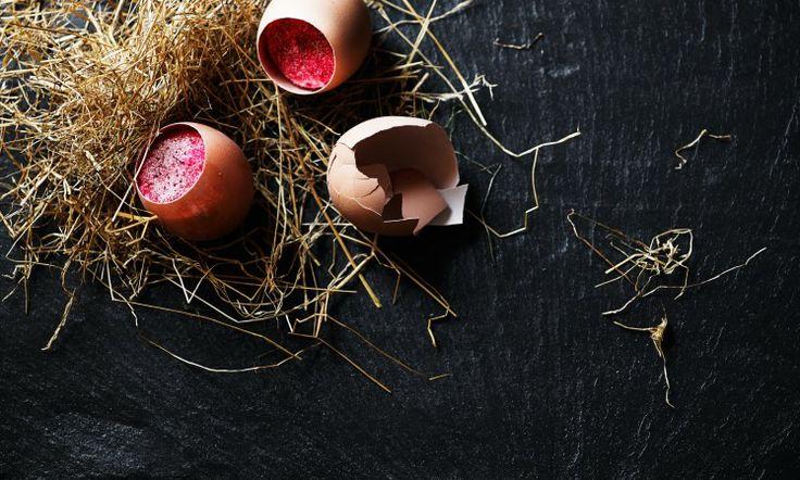 Cod in an egg shell at our Michelin star restaurant Kokkeriet, Copenhagen - Denmark.
