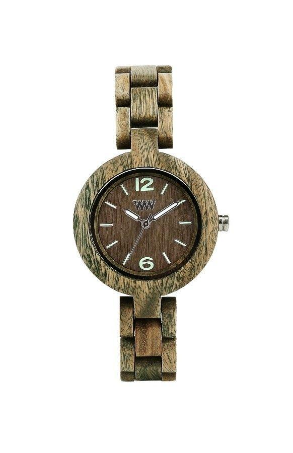 WeWOOD MIMOSA Army houten horloge - Horloges.nl