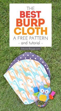 Free burp cloth pattern and tutorial - super absorbant and you can use fat quarters!