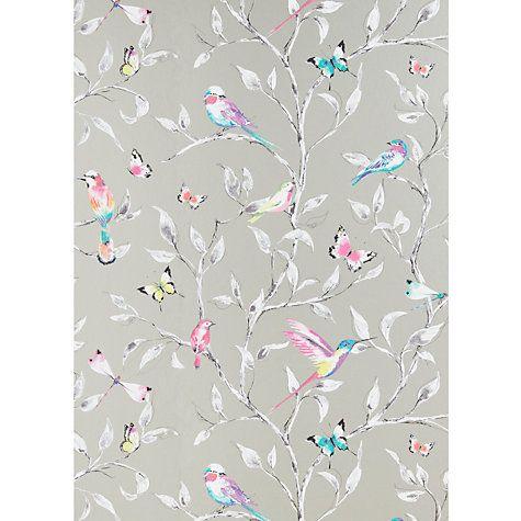 Buy John Lewis Hummingbird Trees Wallpaper, Champagne Online at johnlewis.com