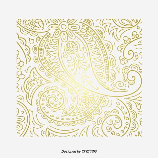 Vector Golden Flower Pattern Western Style Pattern Luxurious Png Transparent Clipart Image And Psd File For Free Download Golden Flower Flower Painting Flower Patterns