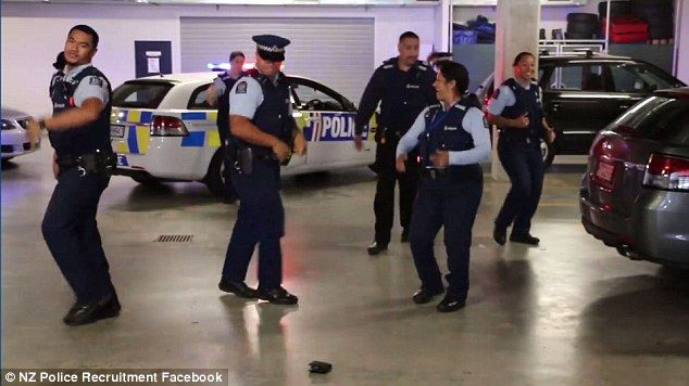 A video in which police officers challenged others around the world to a dance off after performing the Running Man has gone viral