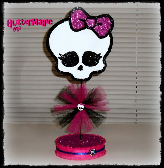 Monster High Centerpiece / Monster High by GlitterMagic23s on Etsy, $12.50