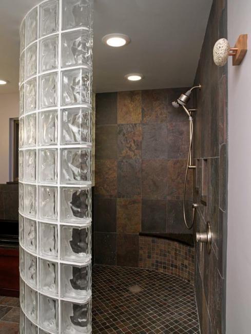 Badezimmer Benutzerdefinierte Glas-Block Dusche Designs hinzufügen ...