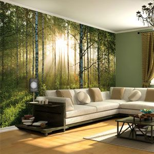 Forest Mural Wallpaper on Housing Units