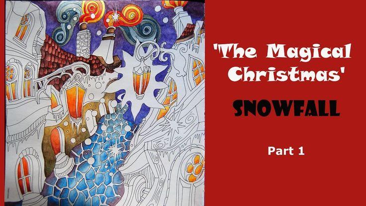 Colouring 'The Magical Christmas' - Snowfall. Part 1 / Раскраска-антистр...