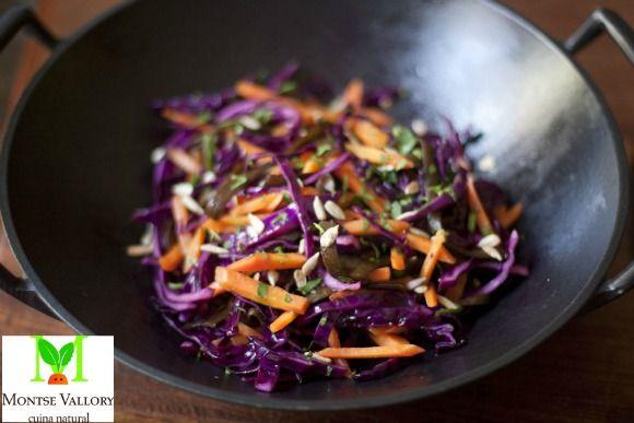 Receta de salteado de col lombarda y chucrut | La Cocina Alternativa