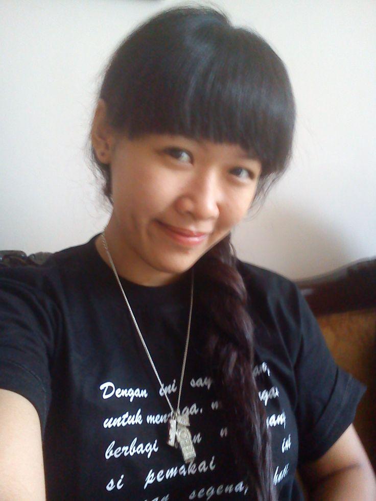 long hair style...like a bow :D