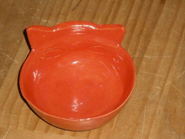 Katze: Futter - Futternapf Keramik - ein Designerstück von keramik-milada bei DaWanda