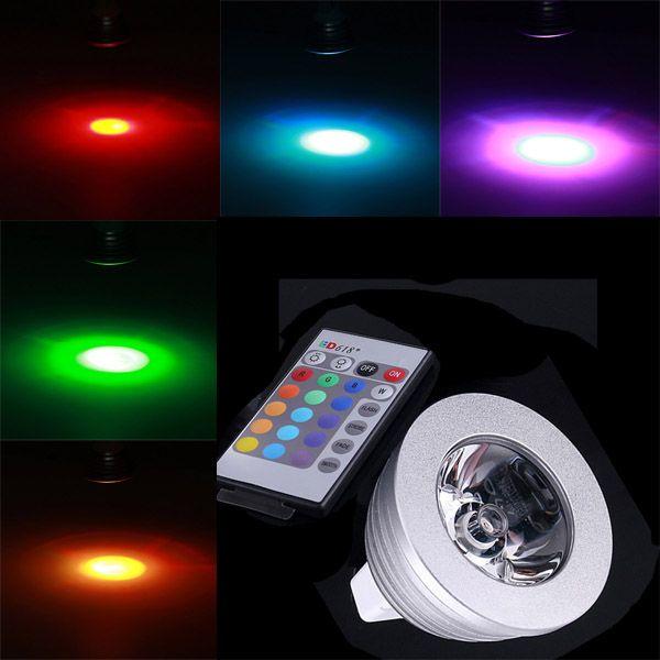 Mr16 3w Rgb Multicolored Ir Remote Control Light Bulb 12v Remote Control Light Light Bulb Bulb