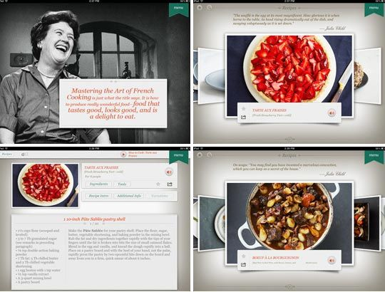 Bon Appétit! Selected Julia Child Recipes Now Available for iPad and Nook