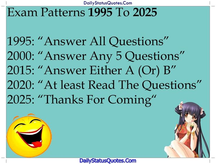 Exam patterns 1995 to 2025  Daily Status Quotes